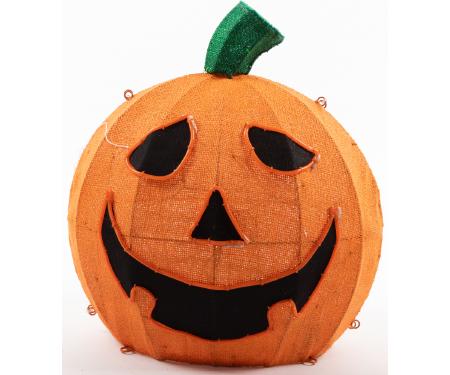 Jack O Lantern 22 Quot Orange Burlap With Lights G48 Wb4009566